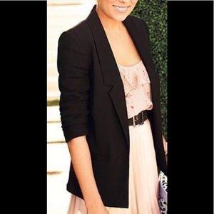 NWT Lauren Conrad Black Tie Boyfriend Blazer